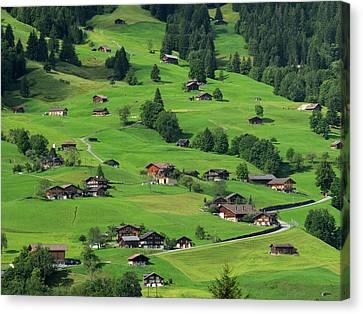 Switzerland, Bern Canton, Grindelwald Canvas Print