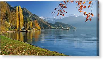 Switzerland, Canton Lucerne, Lake Canvas Print by Panoramic Images