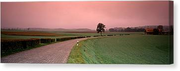 Switzerland, Country Road Canvas Print by Panoramic Images