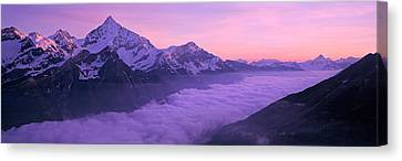 Switzerland, Swiss Alps, Aerial View Canvas Print by Panoramic Images