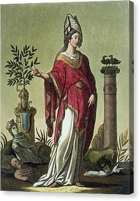 Sybil Of Eritrea With Her Insignia, 1796 Canvas Print