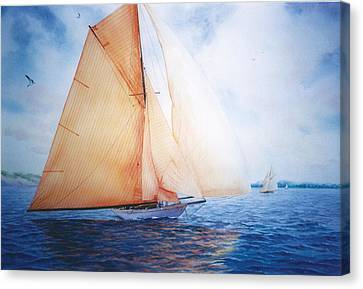 Syce Canvas Print by Marguerite Chadwick-Juner