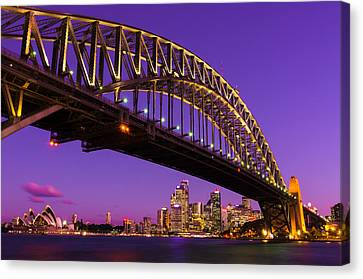 Sydney At Night Canvas Print by Andre Distel