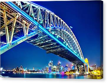 Sydney Blues Canvas Print by Az Jackson