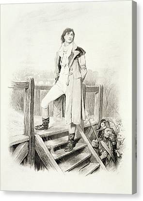 Sydney Carton, From Charles Dickens A Canvas Print