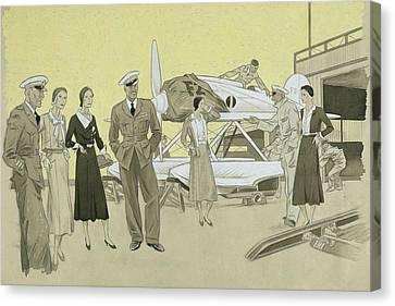Sydney Cup Race Canvas Print by Helen Dryden
