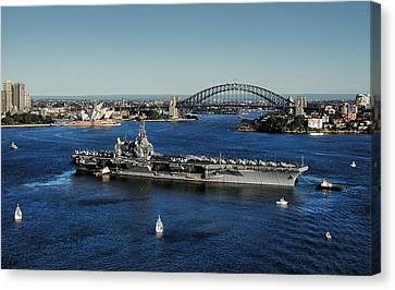 Sydney Harbor Canvas Print by John Swartz
