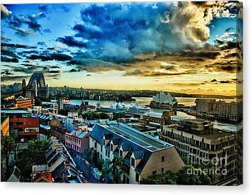 Sydney Harbor Sunrise Canvas Print by Syed Aqueel