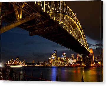 Canvas Print featuring the photograph Sydney Harbour Bridge by Miroslava Jurcik