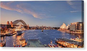 Sydney Harbour By Night Canvas Print