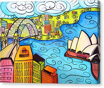 Sydney Harbour  Canvas Print by Oiyee At Oystudio