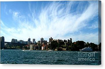 Canvas Print featuring the photograph Sydney Harbour Sky by Leanne Seymour