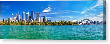 Sydney Harbour Skyline 3 Canvas Print