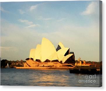 Sydney Opera House Painting Canvas Print