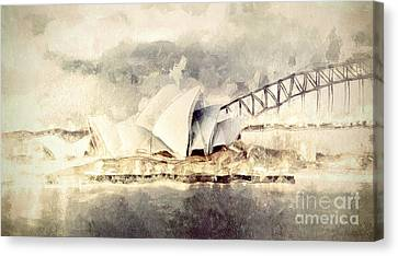 Sydney Opera House Canvas Print by Shanina Conway