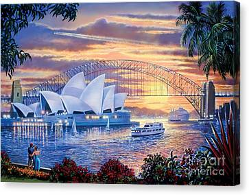 Sydney Opera House Canvas Print by Steve Crisp