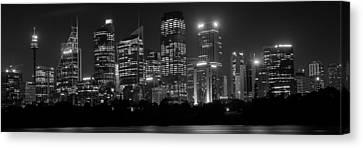 Sydney Skyline In Bw Canvas Print by Cliff C Morris Jr