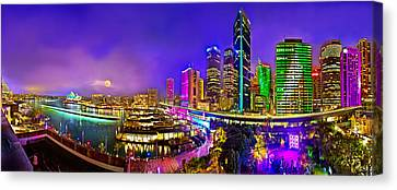 The Houses Canvas Print - Sydney Vivid Festival by Az Jackson