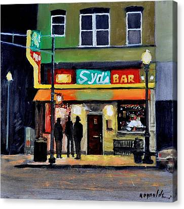 Canvas Print featuring the painting Syd's Bar by John Reynolds