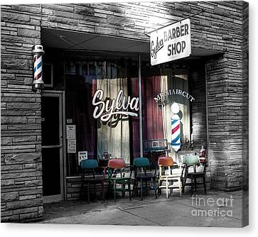 Sylva Barber Shop - 2008 Canvas Print