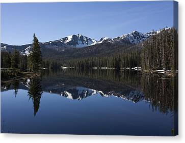 Sylvan Lake Reflection - Yellowstone Canvas Print