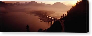 Sylvenstein Lake With Bridge Bavaria Canvas Print