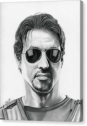 Sylvester Stallone Canvas Print - Sylvester Stallone - The Expendables by Fred Larucci
