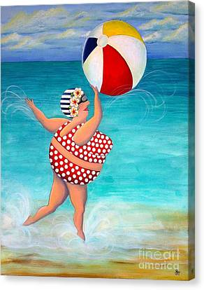 Sylvia At The Beach Canvas Print