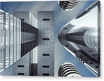 Sky Line Canvas Print - Symbiosis by Gerard Jonkman