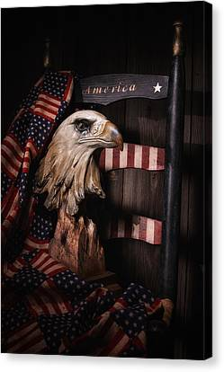 Fabric Canvas Print - Symbol Of America Still Life by Tom Mc Nemar