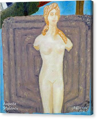 Symbol Of Fertility And Goddess Aphrodite Canvas Print by Augusta Stylianou