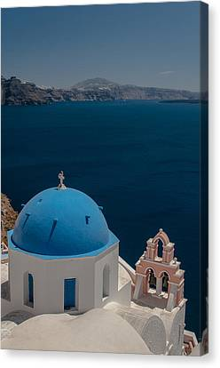 Symbol Of Santorini Canvas Print by Sergey Simanovsky