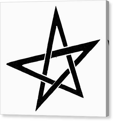 Symbol Pentacle Canvas Print by Granger