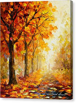 Symbols Of Autumn - Palette Knife Oil Painting On Canvas By Leonid Afremov Canvas Print