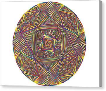 Symmetry Four Canvas Print by diNo