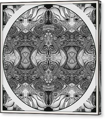 Symmetry  In Black And White Canvas Print by Jack Dillhunt