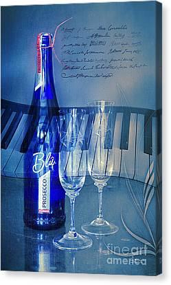 Symphony In Blue Canvas Print by Jutta Maria Pusl