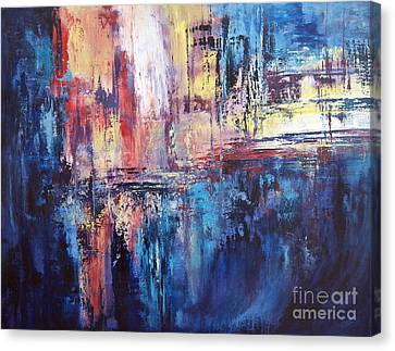 Symphony In Blue Canvas Print by Valerie Travers