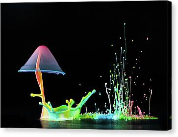 Droplet Canvas Print - Symphony Of Colors by Suwandi Lim