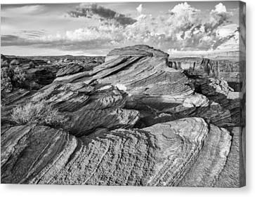 Northern Arizona Canvas Print - Symphony Of Frozen Waves Horseshoe Bend Page Glen Canyon Arizona - Navajo Nation by Silvio Ligutti