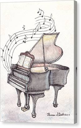 Symphony Canvas Print by Theresa Stinnett