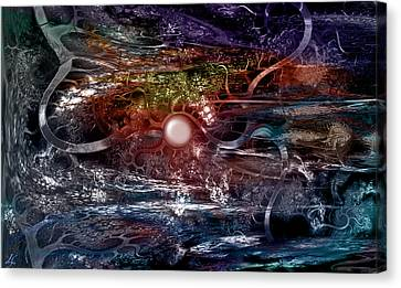 Synapse Canvas Print by Linda Sannuti