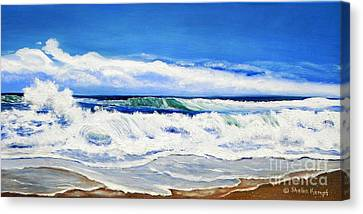 Canvas Print featuring the painting Synchronized Sensations by Shelia Kempf