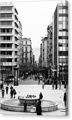 Syntagma Square Canvas Print by Gabriela Insuratelu