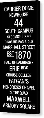 Syracuse College Town Wall Art Canvas Print