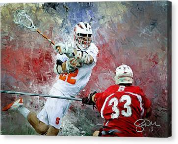 College Lacrosse 5 Canvas Print by Scott Melby