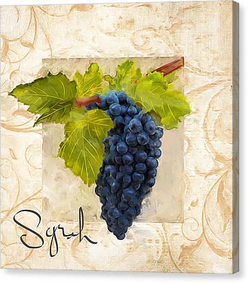 Syrah Canvas Print by Lourry Legarde