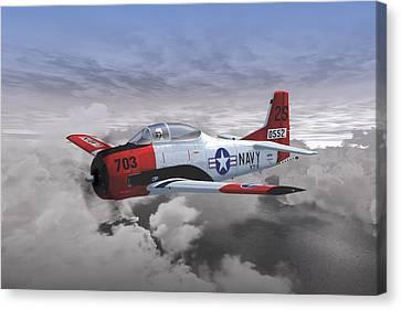 T-28c Vt-5 Canvas Print