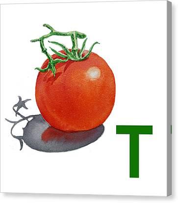 T Art Alphabet For Kids Room Canvas Print by Irina Sztukowski