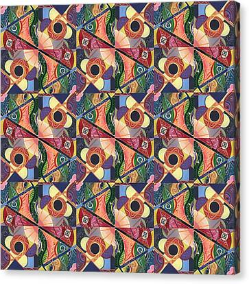 T J O D Tile Variations 5 Canvas Print